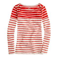 Painter boatneck tee in red stripe - J.Crew