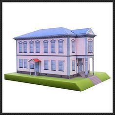 Tatsunori Hall Free Building Paper Model Download - http://www.papercraftsquare.com/tatsunori-hall-free-building-paper-model-download.html