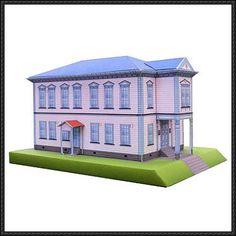 Tatsunori Hall Free Building Paper Model Download - http://www.papercraftsquare.com/tatsunori-hall-free-building-paper-model-download.html