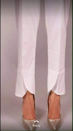 Style of plazo pant Kurti Sleeves Design, Sleeves Designs For Dresses, Dress Neck Designs, Salwar Pants, Gharara Pants, Salwar Designs, Creation Couture, Fashion Pants, Ideias Fashion