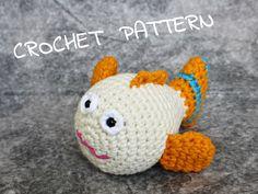 Amigurumi tropical fish stuffed toy crochet pattern pdf tutorial US English by ByMarika on Etsy