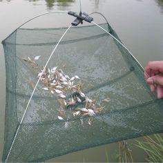 Fishing Foldable Mesh Baits Trap Umbrella Cast Dip Net Crab Shrimp Fishing Accessories