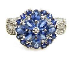 1.52ct tw Sapphire & Diamond Ring 10KT White Gold
