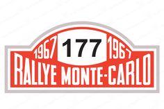 1967 Winner Monte Carlo Rallye Number Board Mini Cooper Decal Number 177