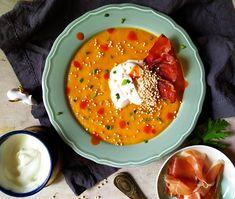 : Zupa-krem z młodej marchewki z wędzoną śmetaną, ek. Quinoa, Fish, Meat, Ethnic Recipes, Pisces