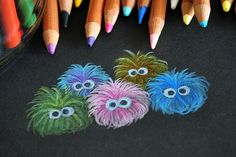 Colored Pencil Fuzzballs (wish I could find more info about this image)