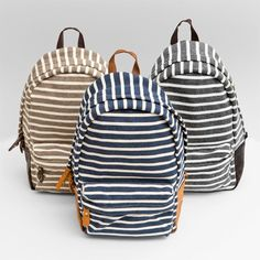 love the ole' backpack - especially in stripes.  It's so functional while holding a 1 year old!