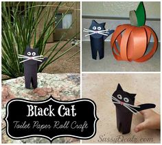 Easy Black Cat Toilet Paper Roll Craft For Kids - Crafty Morning
