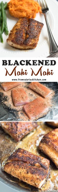 A homemade Cajun spice mix adds incredible flavor to this Blackened Mahi Mahi. It's a quick dish you can easily pull together on a busy weeknight but it's so tasty you'll want to serve it to guests!