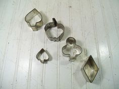 Vintage Set of 5 Cookie Cutters by DivineOrders on Etsy, $11.00