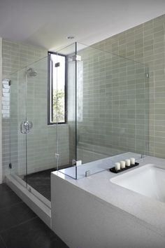 I love a separate shower and bath.  I would like to extend the top of the shower to make it a steam room...
