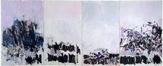 Joan Mitchell, La Vie en Rose, 1979. Oil on canvas (four panels), 110 3/8 x 268 1/4 inches (280.4 x 681.4 cm). The Metropolitan Museum of Art, New York