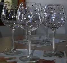 Painted wine glass ideas