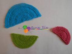 Medio círculo a crochet - How to crochet a Half Circle ENGLISH SUB - YouTube