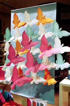 Gorgeous paper window display