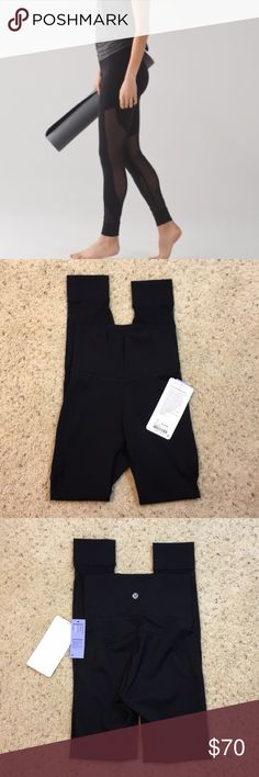 """🎀NWT LULULEMON Hot Like Agni Pant🎀 Super cute new with tags size 2 black Hot Like Agni Pants inseam is 28"""" keeps you cool when you workout in these pants has mesh fabric for ventilation and a super high rise for coverage Full-On Luxtreme fabric with added Lycra for stretch and shape lululemon athletica Pants Track Pants & Joggers"""