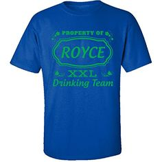 Property Of Royce St Patrick Day Beer Drinking Team  Adult Shirt 4xl Royal -- Click the image to view the details