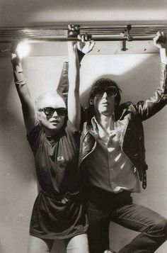 Debbie Harry & Iggy Pop.  Just hangin' out.  http://www.boom973.com/music.aspx