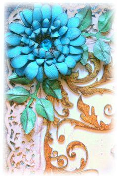 Blue Daze Flower Tutorial ... http://what-a-beautiful-mess.blogspot.com/2012/01/blue-daze-flower-tutorial.html