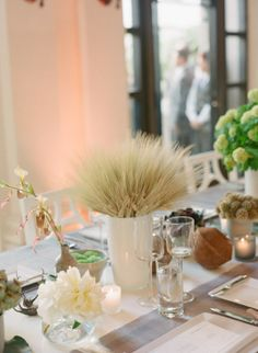 Modern Wheat Centerpiece | photography by http://tanjalippertphotography.com/