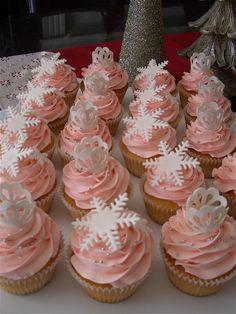Pink Winter Wonderland Cupcakes
