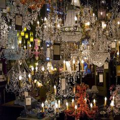 Is anything prettier than a million chandeliers?