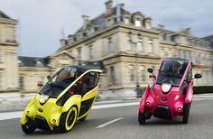 仏グルノーブル市で10月から、トヨタの超小型EV「i-ROAD」と「COMS」を用いたカーシェアリングの実証実験が開始される。ダイムラーが欧州や北米の23都市で展開するカーシェアリング「Car2Go」についても紹介。