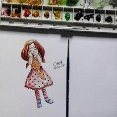 Using watercolor. OMG!