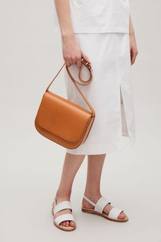 COS image 4 of Small shoulder bag in Tan