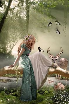 Deer and birds also congregate in the enchanted forest! I could definitely make some birds