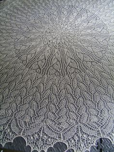 Beautiful Heliotaxis Pi Shawl pattern by Renata Brenner. Pattern is free on Ravelry