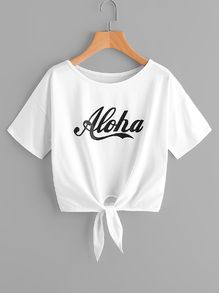 Knotted alpha shirt - Knot T Shirt - Ideas of Knot T Shirt - Knotted alpha shirt Cute Girl Outfits, Kids Outfits Girls, Teenager Outfits, Cute Casual Outfits, Summer Outfits, Girls Fashion Clothes, Teen Fashion Outfits, Addidas Shirts, Belly Shirts