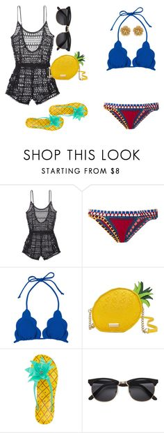 """""""WHEN I MET U IN THE SUMMER"""" by underestimated10 on Polyvore featuring Victoria's Secret, kiini, Marysia Swim, Kate Spade and Miriam Haskell"""