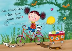 Corinne Bittler Delaunay ilustrador: Postales