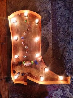 Sale price Lighted Beaded Cowboy Boot Sign by KDBRusticVintage, $175.00