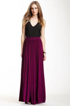 S.H.E. Double Slit Maxi Skirt on HauteLook