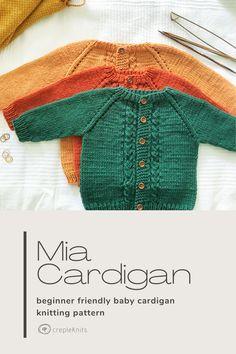 Free Baby Sweater Knitting Patterns, Knit Cardigan Pattern, Knitted Baby Cardigan, Knit Baby Sweaters, Baby Knits, Häkelanleitung Baby, 12 Months, Ravelry, Crocheting