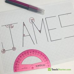 Angles in my Name Measurement Games, Teaching Measurement, Angle Names, Teaching Strategies, Teaching Activities, Teaching Math, Teaching Ideas, Grade 6 Math, Fourth Grade
