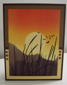 Inspired Sunset by Laurie Thompson - Cards and Paper Crafts at Splitcoaststampers