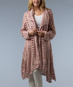 Look at this Rose Razor Cut Open Cardigan - Women on #zulily today!
