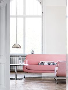 Dusty pink sofa