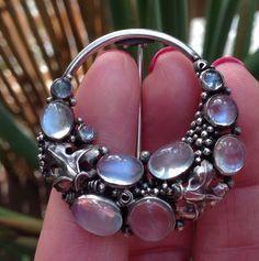 Dorrie Nossiter Silver Moonstone Brooch | Image 2 of 4 | Collectors Weekly