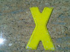 Vintage Metal Letter X by DecrepitudeAplenty on Etsy, $15.00