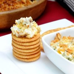 Where food, family and friends gather, Simply Gourmet: Jalapeno Popper Dip -- sub crackers with flax meal. Yummy Appetizers, Appetizer Recipes, Easiest Appetizers, Party Appetizers, Dip Recipes, Cooking Recipes, Recipies, Potluck Recipes, Jalapeno Popper Dip