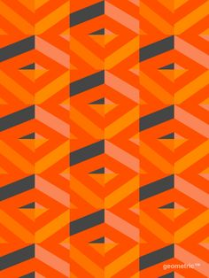 orange (my favorite) geometric pattern