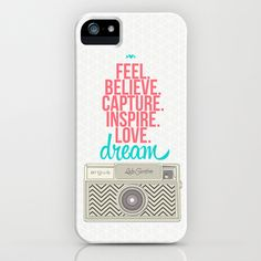 Camera Dream Feel Inspire Love  iPhone & iPod Case by lalaloves - $35.00 #lwpsantographer