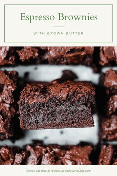 These rich dark chocolate espresso brownies are decadent and delicious. With an entire shot of espresso they basically count as breakfast! Espresso Brownies, Coffee Brownies, Dark Chocolate Brownies, Chocolate Espresso, Espresso Dessert, Coffee Dessert, Espresso Cake, Espresso Coffee, Coffee Coffee