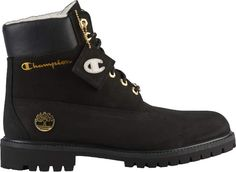 Check out the Timberland Shearling Champion Black available on StockX Black Timberland Outfits, Shoes Boots Timberland, Timberland Waterproof Boots, Black Timberlands, Timberland 6, Shoe Boots, Black Boots Outfit, Swag Shoes, Champion Shoes