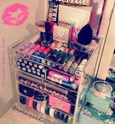 Rangement Maquillage Maquillage Rangement Pinterest