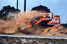 Ferrari Friday … lift off Masten Gregory & Gregg Young's YART-Ferrari getting some air at the 1971 12 Hours of Sebring Sports Car Racing, Racing Team, Road Racing, Sport Cars, Le Mans, Vintage Racing, Vintage Cars, Vintage Auto, Grand Prix